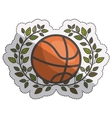 Isolated ball of basketball design vector image vector image