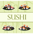 Japanese food - sushi template vector image vector image