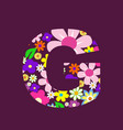 letter of beautiful flowers g vector image vector image