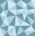 low polygon blue tone vector image