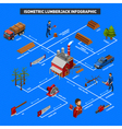 Lumberjack Infographics Isometric Layout vector image vector image
