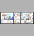 modern minimalistic presentation templates set vector image