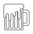 mug beer glass drink traditional outline vector image vector image