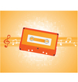 musical composition with audiocassette vector vector image vector image