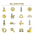 Oil industry and energy yellow fill icons vector image vector image