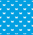 opened cardboard box pattern seamless blue vector image