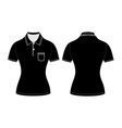 polo woman shirt design templates vector image vector image
