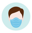 protective mask men vector image vector image
