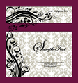 Purple Swirls Frame Wedding Invitation vector image vector image