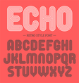 Retro style font alphabet vector image vector image