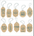 retro vintage tags collection vector image