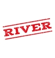 River Watermark Stamp vector image vector image