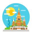 Saint Basils cathedral flat design landmark vector image
