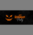 scary halloween party banner design vector image vector image