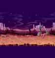 seamless desert night horizontal landscape vector image