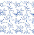 seamless pattern with mistletoe vector image vector image