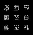 set line icons architectural vector image vector image