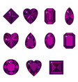 set of diamonds of various shapes vector image vector image