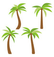 set of four different cartoon palm trees vector image vector image