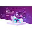 shopping and statistics vector image