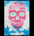 skull summer t shirt graphic design vector image vector image