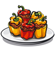 stuffed bell peppers vector image vector image