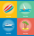 summer holidays banner set outdoor leisure vector image vector image