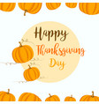 thanksgiving background with yellow pumpkins vector image