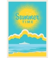 travel banner with sea vector image vector image