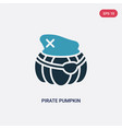 two color pirate pumpkin icon from other concept vector image vector image