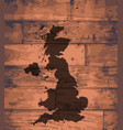 uk map brand vector image