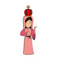 virgin mary with crown holy family icon image vector image vector image