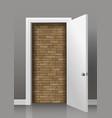 wall behind the door vector image