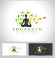 Yoga Logo Design Creative vector image
