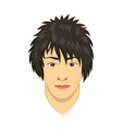 young asian man avatar character male face vector image vector image