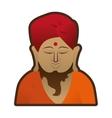 head buddha meditation religion indian symbol vector image