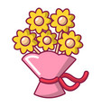 wedding flower bucket icon cartoon style vector image