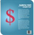 Dollar sign design vector image