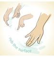 rub hands icon vector image