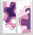 abstract banner - set template vector image vector image