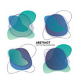 abstract freeform color gradient fluid organic vector image vector image