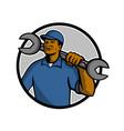 african american mechanic mascot vector image vector image