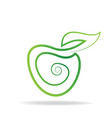 apple logo graphic icon vector image