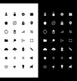 basic glyph icons set for night and day mode