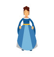 beautiful princess in a blue dress fairytale or vector image vector image