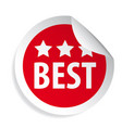 best label round sticker vector image