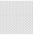 black and white hexagon honeycomb vector image