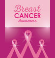 breast cancer campaign poster vector image vector image