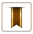 Brown bookmark banner vector image vector image