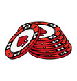 casino chips isolated vector image
